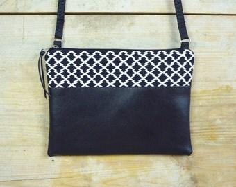 Mini-Tasche schwarz-weiß SONJA