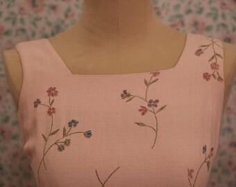 90s Pink Floral Mini Dress