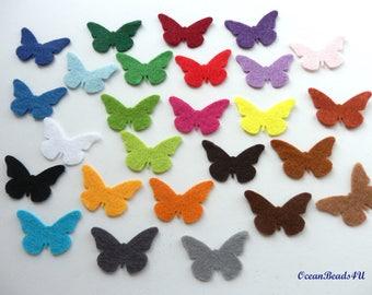 50 Felt Butterflies (color/size free choice)
