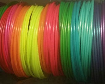 Triple Mini Hula Hoops 20-24 inches- Custom Made with Colored Bare polypro/ hdpe * Mix/ Match *