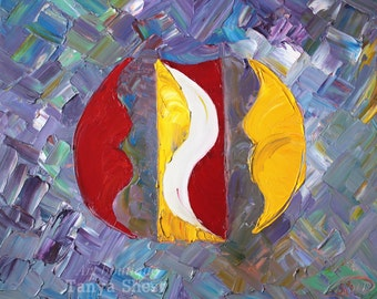"""Oil painting on canvas by Tanya Shest -Mosaic of feelings- Size: 16"""" X 20"""" Inches (40 cm x 50cm) Impasto"""