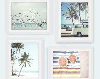 Instant Download, Set of 4, Beach Print, Beach Decor, Boho Decor, Beach Printable Art, Summer Photography, Beach Life, Coastal, Summer Decor