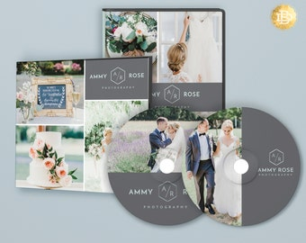 CD dvd Label Design Template, cd dvd Cover Template Design, Wedding Marketing Template Design for Photographers - INSTANT DOWNLOAD - CD001