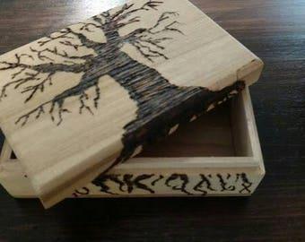Wood Burned Box