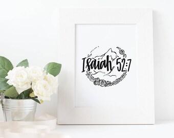 Isaiah 52:7 Print