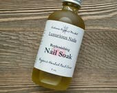 Organic Nail Soak, Replenishing Nail Oil, Natural Nail & Cuticle Treatment, Herbal Nail Soak Oil, Natural Nail Care, Vegan Cuticle Oil