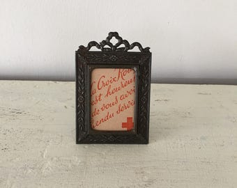 Tiny vintage French picture frame