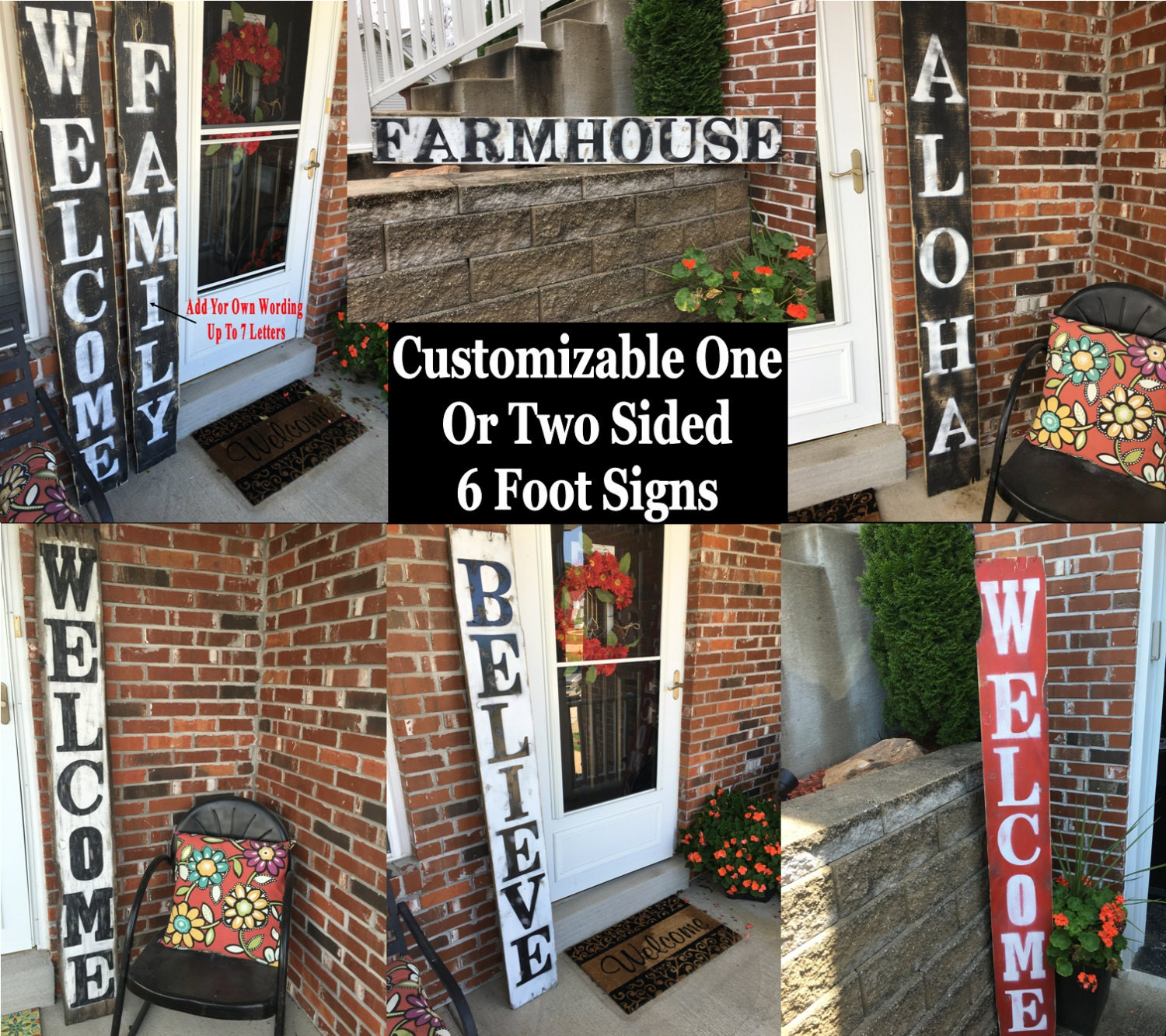 large welcome signs rustic wood welcome signs welcome front porch signs front porch - Porch Decor