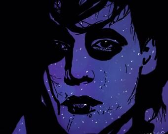 Edward Scissorhands Galaxy Art Print