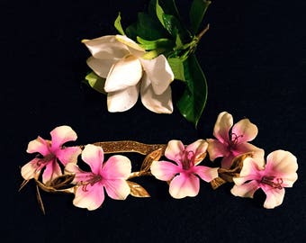 Island Goddess Gold Leaf Flower Crown- Handmade in Hawaii with Aloha