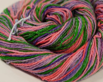 """272 Yards Sport weight - Handspun and Hand-Dyed Wool Yarn, in """"Joy"""" colorway"""