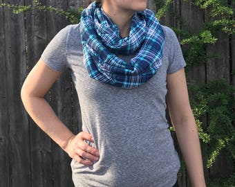 Plaid scarf nursing cover