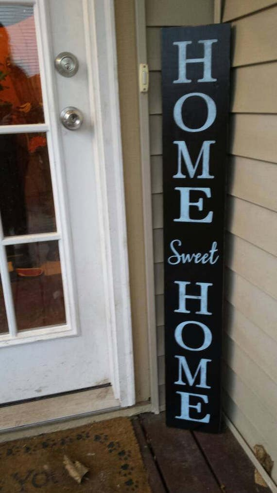 Home Sweet Home Extra Large Porch Sign Vertical Wood Sign