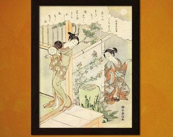 FINE ART REPRODUCTION Japanese Art Suzuki Harunobu Artwork Ukiyo-e Art   Oriental  Asian Art Edo Period Japanese Artists