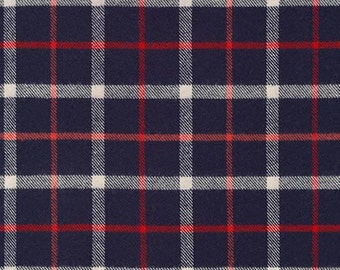 Tahoe Flannel NAVY from Robert Kaufman - 1/2 Yard