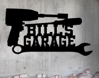 Personalized Mechanic's Garage Sign - Toolbox - Custom Metal Sign - Tool Sign - Fathers Day