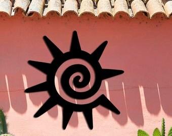 Sun Symbol - Southwest Design - Home & Garden - Large (23w x 23h) Metal Art - Indoor - Outdoor