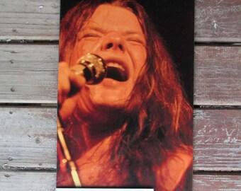 Janis Joplin, Classic Rock, 1960s Concert Photo, Janis Joplin Mounted Poster, Vintage Music Wall Art