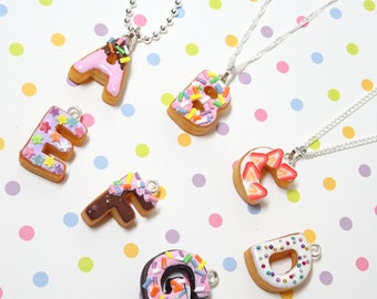 Donuts Necklace, Kawaii Necklace, Food Necklace, Food Jewelry, Fake Food Jewelry, Miniture Food Necklace, Gift for girlfriend, Gift for her