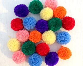 Medium handmade pom poms (5cm) - made to order perfectly trimmed acrylic wool pom poms - photo prop