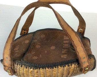 Vintage Southwestern Armadillo Handbag