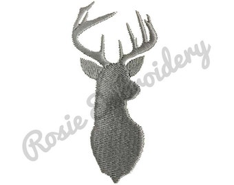Deer Antler Silhouette Embroidery Design Instant Download Digital Pattern - RE15