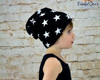 Cool Beanies for cool Kids BLACK STARS