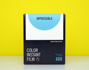 Polaroid Film 600 Impossible Project - Round Frame Edition - For Polaroid 600 Style Instant Camera