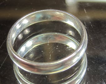 E-18 Vintage  Ring  925 silver size 10