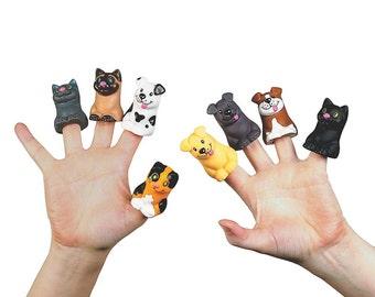 "2"" Set of 24 Cat and Dog Finger Puppet Animal Toys- SKU # FE-12-4110"
