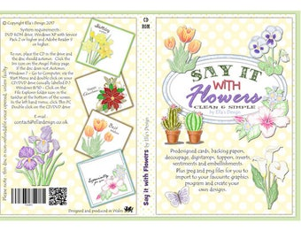 Say it with Flowers papercraft CD-Rom