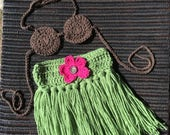 Baby hula outfit, hula girl, hula Photo prop, hawaii baby outfit