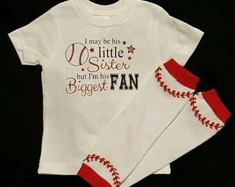 Little Sister Biggest Fan Shirt/Baseball Fan Shirt/Baseball Shirt/Little Sister Shirt