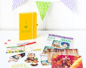 Activity Kit for Kids, Learn about Brazil, Educational Gift, Educational Crafts,  Activity Set, Brazil Notebook, Christmas Gift, Homeschool