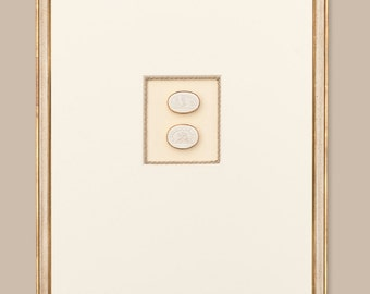 "Award Winning Framed Intaglios: Double Intaglio with Tiberian Signature Frame, 18 3/4"" x 23"""