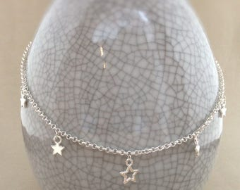Silver star necklace, star necklace, star charm, star jewellery, starlight necklace
