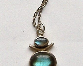 1980S silver pendant NECKLACE