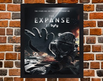 Framed The Expanse TV Series Poster A3 Size Mounted In Black Or White Frame