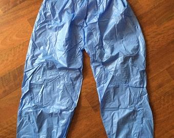 L Light Blue PVC Sauna Pants