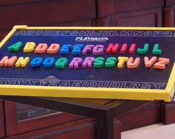 Milton Bradley Playskool Magnetic Letters Deskette