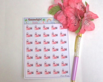 Retail Therapy shopping planner stickers