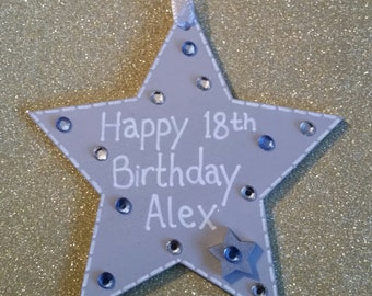18th/21st Birthday Wooden Star Gift