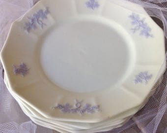 Chelsea Antique Dishes Set of 6 Adderly Grandmother's Ware Blue Grape Pattern 1840