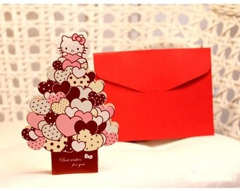 Kawaii/ Cute Hello Kitty 3D Card Sanrio