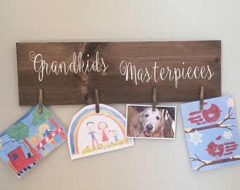 Wall Art Hanger ~ Grandkids Masterpieces ~ Art Display
