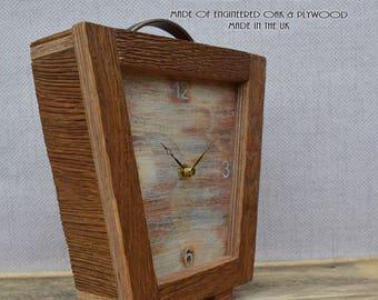 Table Clock, Desk Clock, Modern Clock, Clock, Square Wooden Clock,  Handmade Clock, Small Clock, Oak Clock, Table Clock, Office Clock