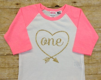 First Birthday Raglan Shirt, Baseball Style Shirt, First Birthday Shirt, Custom Birthday Shirt, Available ( One- Six)