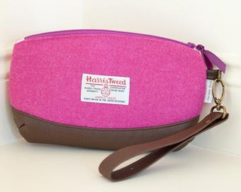 Ladies Wristlet Bag / Harris Tweed Clutch Bag / Harris Tweed Wristlet /  Ladies Clutch Bag