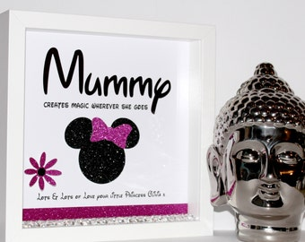 Disney Mummy 3d shadow box frame (Mothers Day / Birthday)