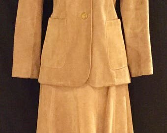 SAKS FIFTH AVENUE Young Dimensions: Suede Jacket and Skirt